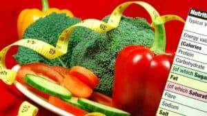 Vegetables with nutrition list as part of personalized nutrition plan