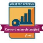 Yoast SEO Keyword Research Badge